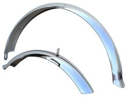 Firmstrong Beach Cruiser Bicycle Fender Set, Front/Rear, Chr