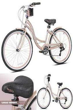 "Beach Cruiser Bike For Women 26"" Bayside Women's Bycicle Pin"