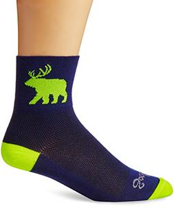 SockGuy Men's Bear Me Sock, Blue, S-M/5-9 Men