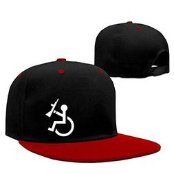 bevoicep Adult Wheelchair Cycling Hiphop Flat Brim Snapback