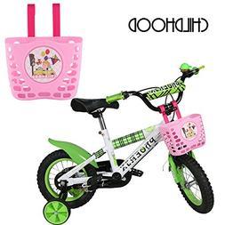 CHILDHOOD Children's Bicycle Basket , Pink Bike Basket for G