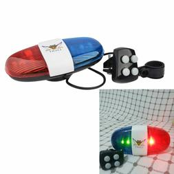 Bicycle Bell 6LED 4 Tone Bike Police Light Kids Accessories