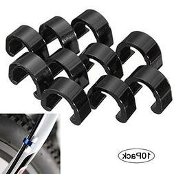 digi-hunter 10Pcs Bicycle C-Clips Buckle Cable Guides Brake