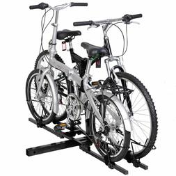 2 Bike Bicycle Carrier Hitch Receiver Heavy Duty 2'' Mount R
