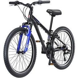 "24"" Bicycle Frame Size 21 Speed Sidewinder Boy's Bike, Black"