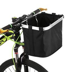 Lixada Bicycle Front Basket Folding Removable Bike Handlebar