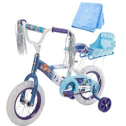 12 Inch Huffy Bicycle Frozen Kids Bike for Girls, Blue with