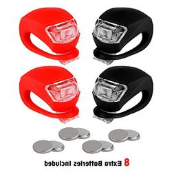 REFUN Bicycle Light - Front and Back Silicone LED Bike Light