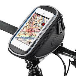 UBEGOOD Bike Phone Bag, Bicycle Front Handlebar Phone Frame