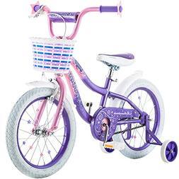 "16"" Schwinn Kids Bicycle Pink/Purple Twilight Rear Coaster a"