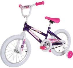 Girls 16in Bicycle Purple BMX Bike Adjustable Seat Training