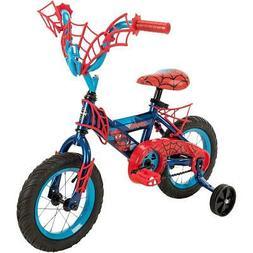 "12"" Marvel Spider-Man Boys' Bike by Huffy Blue/Red"