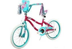 Bicycle With Training Wheels Bright Pink Frame Dynacraft Toy