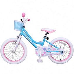 JOYSTAR Kids Bike for Girls with Kicktand & Basket for 5 6 7