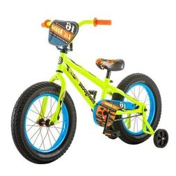 16 Inch Mongoose Lil Bubba Boys' Bike, Neon Yellow