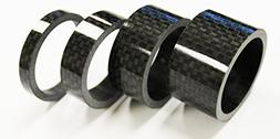 The Flying Wheels 4pc Bike Bicycle Full Carbon Spacer 1-1/8""