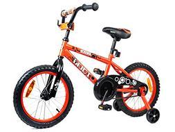 Tauki Kid Bike BMX Bike for Boys and Girls, 16 Inch, Orange,