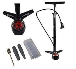 Bike Floor Pump, Blumachine 160 PSI Large Gauge Bicycle Pump