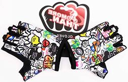 Kids Bike Gloves for Boys Girls Age 4 5 6 7 8 9 10 11 12 Opt