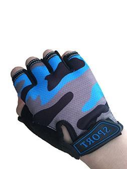 Kids Bike Gloves Anti-slip Half finger Cycling Gloves for Ch