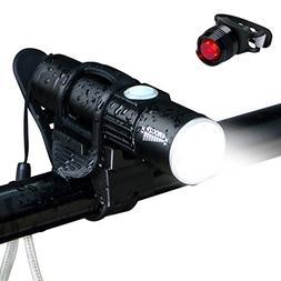 Bike Light Set, USB Rechargeable Super Bright High Lumens Zo