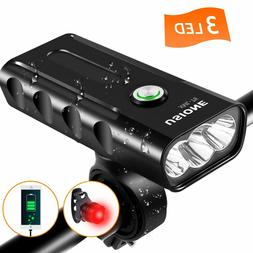 3da30a23841 Bike Lights Front and Back, USB Rechargeable Bike Light Set