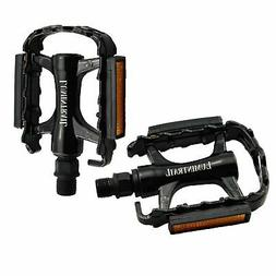 Lumintrail Bike Pedals 9/16-Inch Aluminum Alloy Metal Perfor