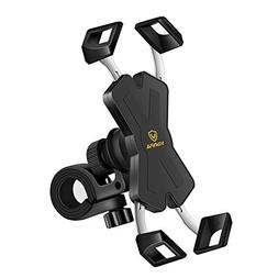 visnfa New Bike Phone Mount with Stainless Steel Clamp Arms