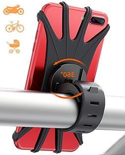 Matone Bike Phone Mount, Silicone Bicycle Holder Motorcycle