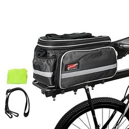 Arltb Bike Rear Bag  20-35L Waterproof Bicycle Trunk Bag wit