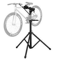 SONGMICS Foldable Bike Repair Stand with Aluminum Alloy Arm,