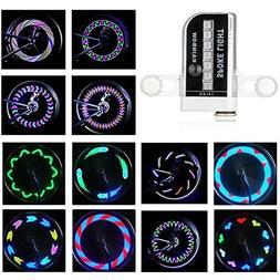 Rottay Bike Wheel Lights Waterproof RGB Ultra Bright Bicycle