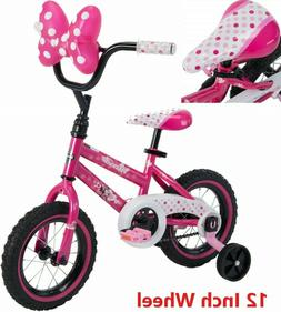 Bikes For Girls 12 In Bicycle Minnie Mouse Huffy Training Wh