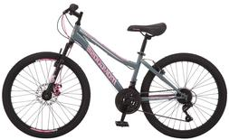 Bikes For Girls Age 9-12 Mountain Bicycle 24 In 21 Speed Com