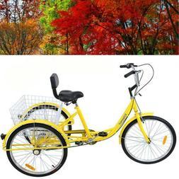 """Ridgeyard 3-Wheel Adult 24"""" Tricycle 7-Speed Bike Bicycle Tr"""