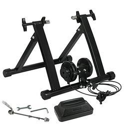AyaMastro Black Adjustable Folding Bicycle Training Exercise