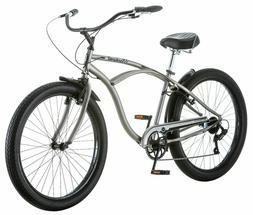 "26"" Schwinn Men's Blackwell Cruiser Bike, Silver"