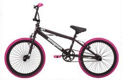 Mongoose BMX Bike 20 Inch Wheels, Single Speed Black Pink Gi