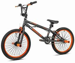 "20"" Boys BMX Bike with Front and Rear Freestyle Pegs Matte G"