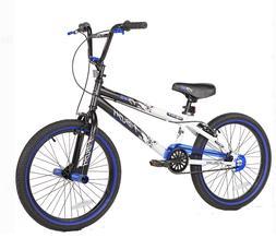 BMX Boy's Bike Black White Blue Kent 20 Inch Single Speed Ha