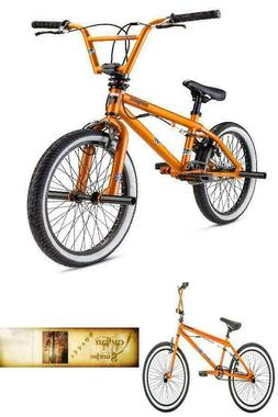 "BMX Kids Bike 20"" Wheels Freestyle Pegs Orange Bicycle Stunt"