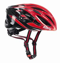 Uvex Unisex Boss Race Road Bike Helmet Red & Black Medium