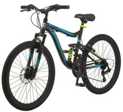 "MONGOOSE BOY'S 24"" TRAIL BLAZER MOUNTAIN BIKE, BLACK/BLUE"