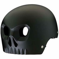 Mongoose Boy's Skull Black Helmet with Orange Inserts