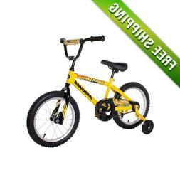 "BOYS BIKE 16"" Magna CHILDREN STARTER BICYCLE TRAINING WHEELS"