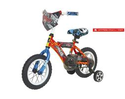 Hot Wheels Boys Dynacraft Bike With Turbospoke, 12'', Red/Bl