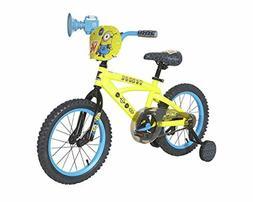 """Minions Boys Dynacraft Bike, Yellow/Blue/Black, 16"""" Adjustab"""