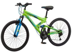 Boys' Mountain Bike Mongoose 24 Inch Spectra Full Suspension