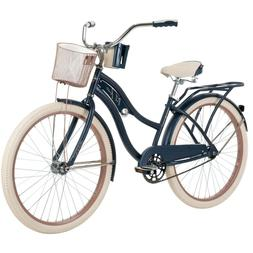 "Huffy 26"" Nel Lusso Women's Beach Cruiser Bike, Blue Free Sh"
