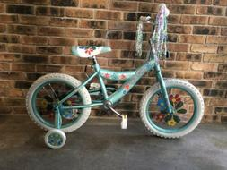 Brand New In Box 16 Inch Girls Teal Blue Bike With Training